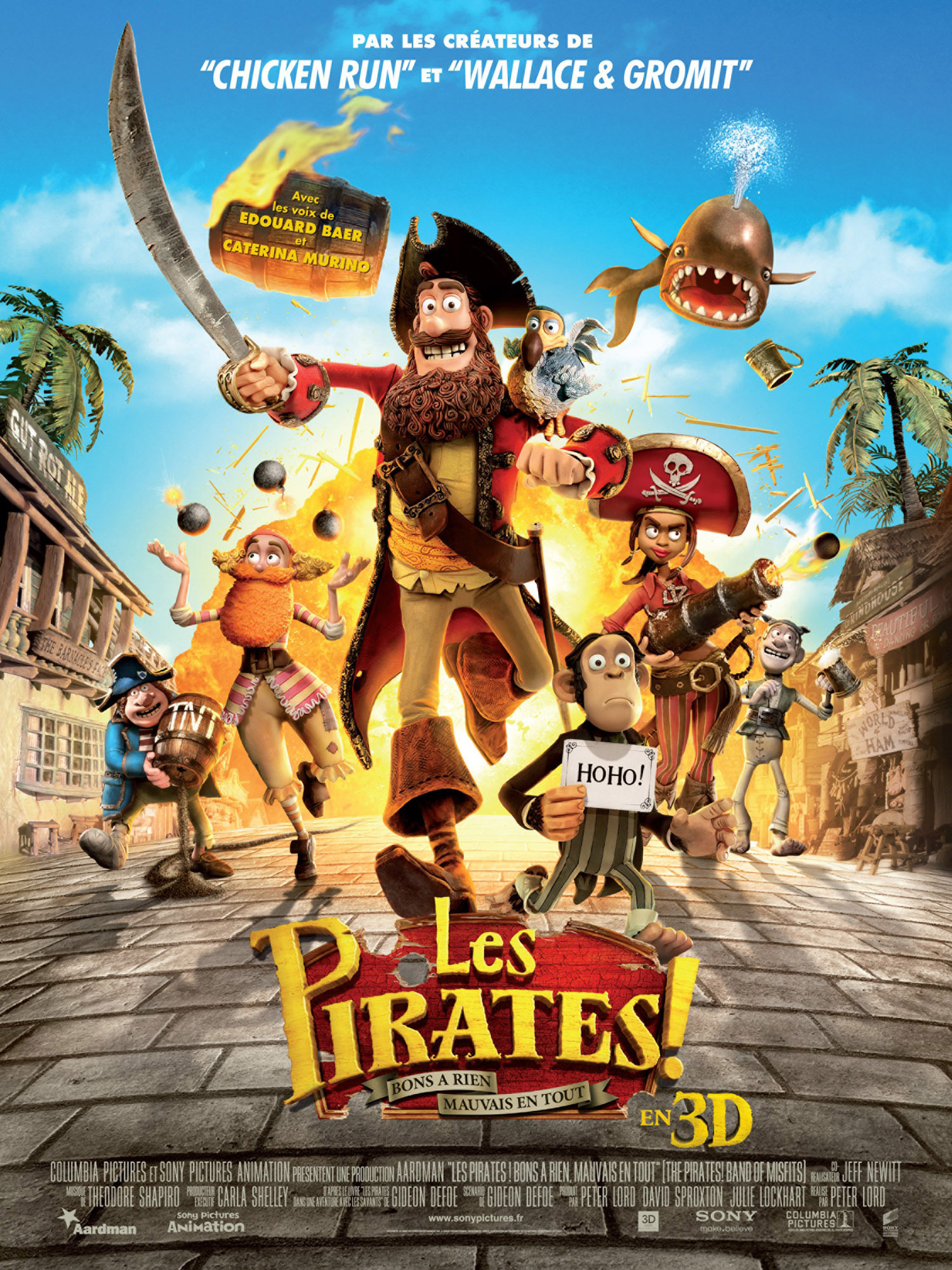"""Affiche du film """"Les Pirates ! Bons à rien, mauvais en tout"""""""